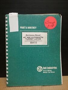 Pratt Whitney Maintenance Manual Pj 400 Automatic Turret Lathe_m5011 15