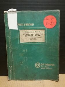 Pratt Whitney Maintenance Manual Pj 400 Automatic Turret Lathe_m5011 14