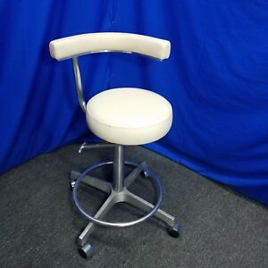 Generic Dental Assistant Stool With Cream Upholstery