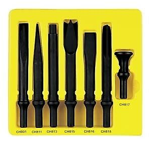 Grey Pneumatic Cs807 7 Piece Heavy Duty 498 Shank Chisel Set