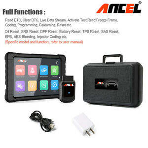 Car Obd2 Scanner Wifi Abs Srs Epb Oil Reset Injector Coding Full System Tablet