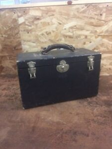 Antique Vintage Black Green Bausch Lomb Microscope Case Wood 8 75 X14 5 X7 5
