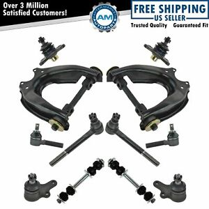 12 Piece Steering Suspension Kit Control Arms Ball Joints Tie Rod Ends New