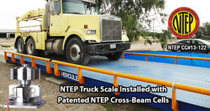 Truck Scale 40 X 12 Ft Truck Scale 130 000 Lb Steel Deck Ntep Approved
