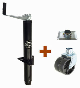 New Libra 2000 Lbs A Frame Topwind Trailer Jack W Foot Plate Amp Dual Wheel Caster