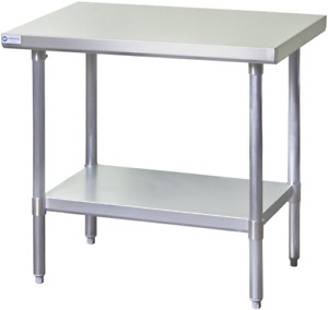 New 30x18 Work Table Nsf Stainless Steel Top 18 Gauge Galvanized Bottom 2079