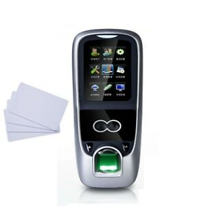 Facial Fingerprint Recognition Time Clock Attendance Face System Biometric Rfid