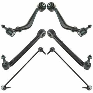 6 Piece Suspension Kit Lower Control Arms Ball Joints W Sway Bar End Links