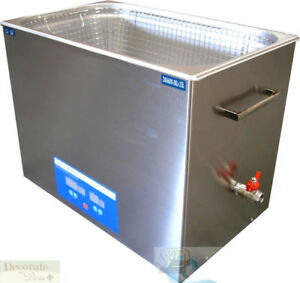 25 Liter Ultrasonic Heated Cleaner Stainless Steel Medical Dental Jewelry New