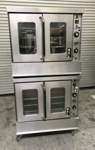 Double Stack Gas Convection Oven Montague 115a 8008 Commercial Bakery Ovens Nsf