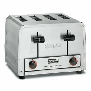 Waring Wct800 Rc Commercial Heavy Duty 4 Slot Toaster 120v 1 Year Warranty 1800w