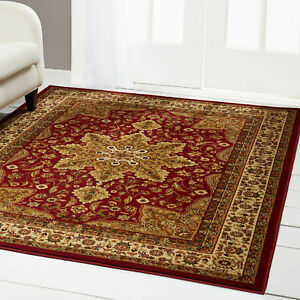 Red Burgundy Oriental Area Rug 5x5 Round Persian 83 Actual 5 2 X 5 2
