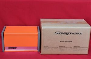 Snap On Electric Orange Mini Micro Top Chest Tool Box Brand New
