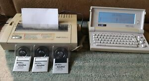 Vintage Smith Corona Personal Word Processor 7000 Plus 3 Font Wheels