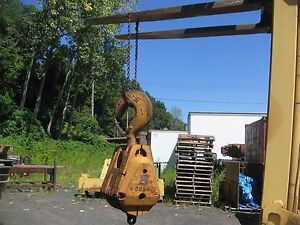 Johnson 55 Ton 5 sheave Crane Hook Block 14 3 4 Sheaves