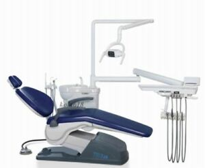 Dental Chair With Delivery Unit led Light 2 Stools upgraded Hand Sewn Leather