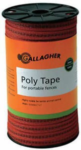 Gallagher G62314 Poly Tape For Portable Electric Fences Orange 656