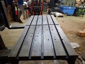 49 X22 X 5 Steel Weld T slotted Table Cast Iron Layout Plate Jig 5 Slot