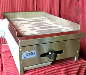 New 18 Flat Top Griddle Gas Stratus Smg 18 1064 Commercial Restaurant Grill Usa