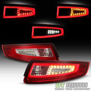 2005 2008 Porsche 911 997 Carrera Gt2 Gt3 Red Clear Led Tube Tail Lights Lamps