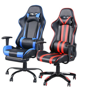 Gaming Office Chair Ergonomic Backrest And Seat Computer Chair With Pillows
