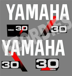 Yamaha 1991 1999 30 Outboard Motor Stickers Decal Kit Engine