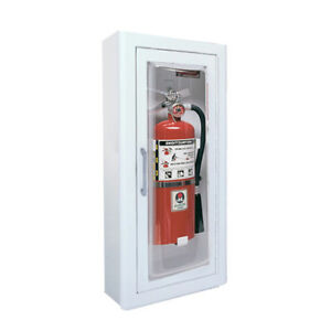 Jl Clear Vu 1517f25 Semi recess Mounted 10 Lbs Fire Extinguisher Cabinet p9