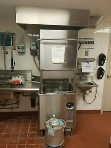 Hobart Am 15 Dishwasher conveyor And Dish Line Tables Included