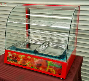 New Heated Glass Display Case Counter Top Uniworld Dn ch3 2295 Hot Food Warmer