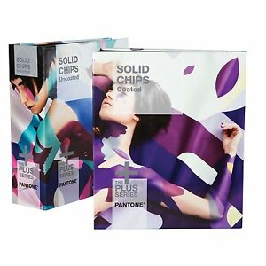 Pantone Solid Chips Two book Set Coated Uncoated Gp1606n 2016 Version