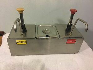 Server Systems Rs3 nl Condiment Dispenser With Ketchup And Mustard Pumps Cp 1 6