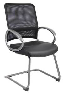Mesh Back Guest Chair In Pewter Finish id 3428180