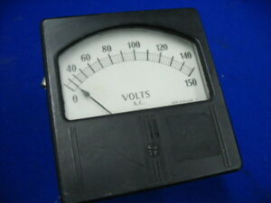 Weston 744 Volts Meter P t Ratio 400 Cycles Full Scale 150