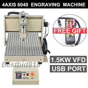 Usb 4axis 6040 1500 Vfd Cnc Router Engraver Engraving Milling Machine controller