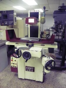 Kent Model Sgs 816mr Manual Surface Grinder 8 X 16 With Ball Roller Table