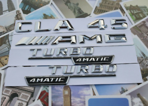 Cla45 Amg Turbo Amg Letters Trunk Embl Badge Sticker For Mercedes Benz