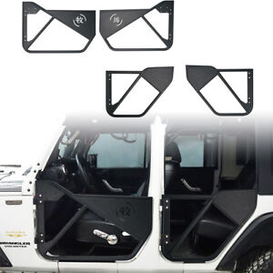 Off Road Chinese Characters Tube Half Doors For 2007 2018 Jeep Wrangler Jk 4door