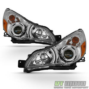 Chrome 2010 2011 2012 2013 2014 Subaru Legacy Outback Headlights Headlamps 10 14