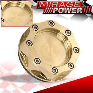 Racing Engine Anodized Gold Aluminum Oil Cap 24k Gold Plated Fuel Cap For Mazda