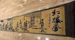 Chinese Ancient Picture Silk Paper Figure Painting Scroll Painting Hongloumen