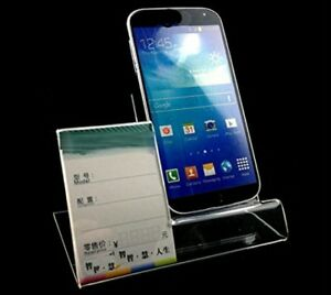 10pack Of Acrylic Mobile Cell Phone Display Stand Holder With Advertisement Tag