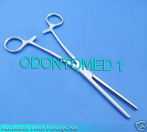 12 Pean Hemostat Locking Forceps 6 Straight Stainless Steel