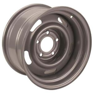 Speedway Motors Gm Chevy Steel Silver 15x7 Rally Wheel 5 On 5 4 25 Backspace