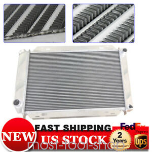 2 Rows Aluminum Racing Radiator Fit For 79 93 Ford Mustang Manual Gt Lx 5 0l V8