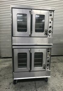 Double Stack Gas Convection Ovens Montague 115a 8026 Commercial Bakery Oven