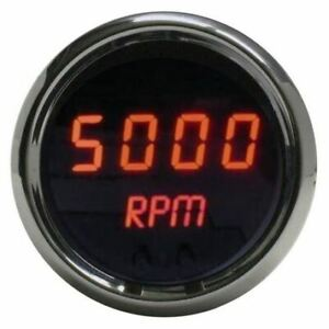 Intellitronx Ms9002r Programmable Digital Mini tachometer 2 1 16 In Chrome Trim