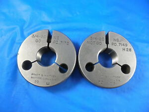 3 4 20 Ns Thread Ring Gages 75 N s Go No Go P d s 7175 7149 Inspection