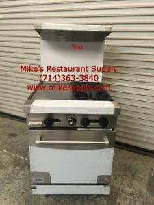 New 24 2 Burner 12 Griddle Range Oven Gas Stratus Sr 2g12 7225 Commercial Nsf