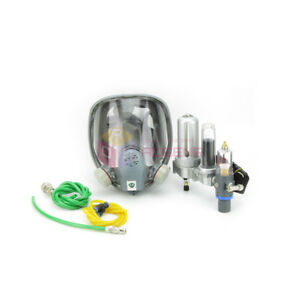 New Air Fed Breathing Mask Hood Respirator Kit For Paint Spray W 3 Stage Filter