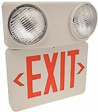 Monument Combination Led Exit Sign And Incandescent Emergency Light